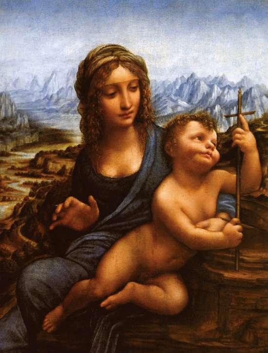 Картина по номерам 40x50 Мадонна с ребёнком у прялки